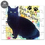 Stray Black Kitty Puzzle