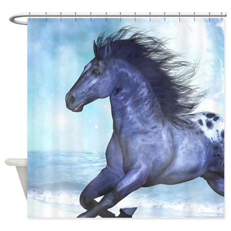 wild horse shower curtain by gatterwe