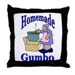 New Orleans Food: Gumbo Throw Pillow