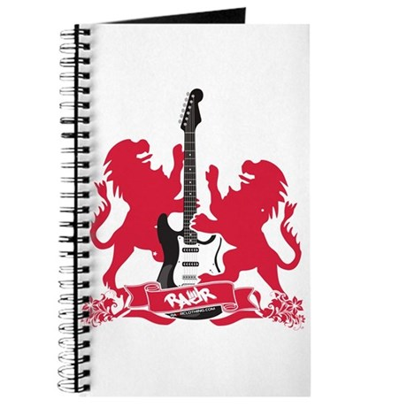 Rock Lion Guitar Crest Journal