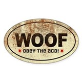 WOOF! Australian Cattle Dog Oval Decal