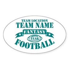 PERSONALIZED FANTASY FOOTBALL TEAL Decal