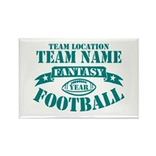PERSONALIZED FANTASY FOOTBALL TEAL Rectangle Magne