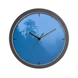smokey mountain dawn Wall Clock