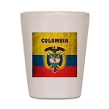 Vintage Colombia Shot Glass