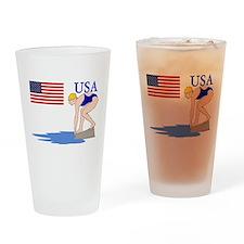 USA Swimming Drinking Glass