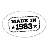 Made In 1983 Decal