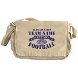 PERSONALIZED FANTASY FOOTBALL NAVY Messenger Bag