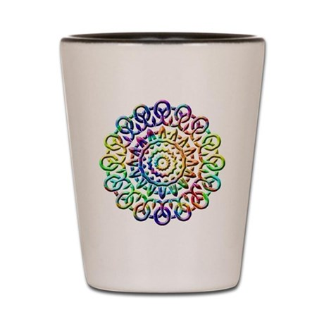 Rainbow Knots Shot Glass