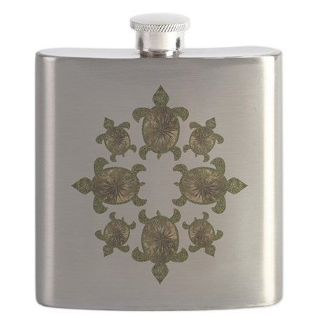 Garden Turtles Flask