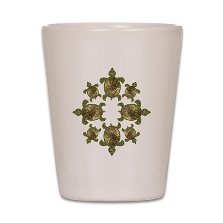 Garden Turtles Shot Glass