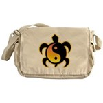 Gold Yin Yang Turtle Messenger Bag