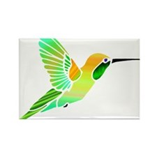 Lemon Lime Sorbet Hummingbird Rectangle Magnet