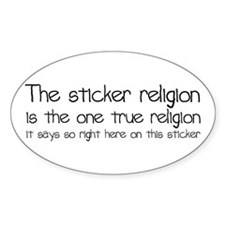 Sticker Religion Decal