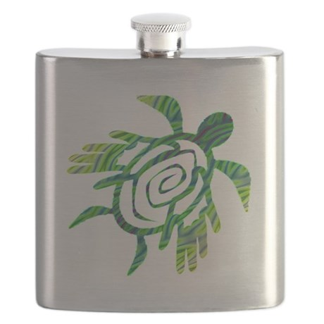 Winged Turtle Flask
