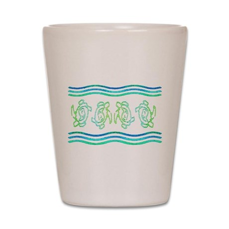 Turtles in Waves Shot Glass