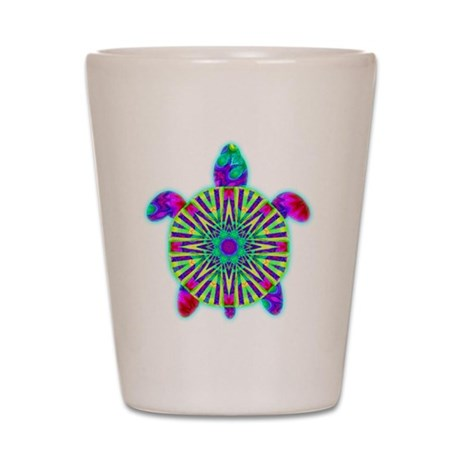 Colorful Sea Turtle Shot Glass