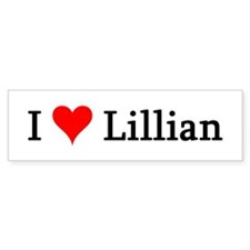 I Love Lillian Bumper Bumper Sticker