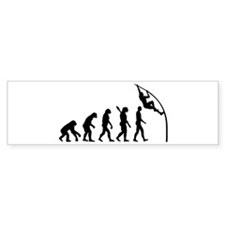 Pole vault evolution Bumper Sticker