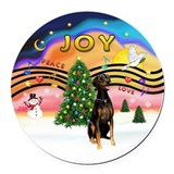 XMusic2 - Doberman (Nat) Round Car Magnet