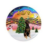 "XMusic2 - Doberman (Nat) 3.5"" Button (100 pac"