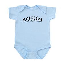 Computer office evolution Infant Bodysuit
