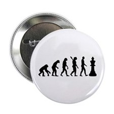 "Chess king evolution 2.25"" Button (10 pack)"