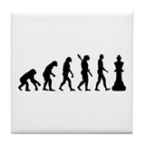 Chess king evolution Tile Coaster