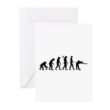 Pool billards evolution Greeting Cards (Pk of 10)