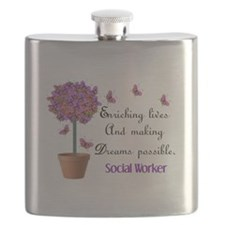 Social worker butterfly tree.PNG Flask
