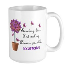 Social worker butterfly tree.PNG Coffee Mug