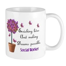 Social worker butterfly tree.PNG Mug