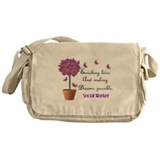 Social worker butterfly tree.PNG Messenger Bag
