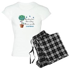 Social worker Butterfly Quote.PNG Pajamas