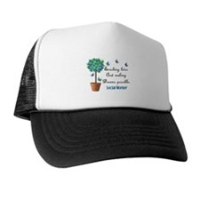 Social worker Butterfly Quote.PNG Trucker Hat