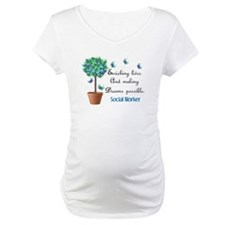 Social worker Butterfly Quote.PNG Shirt