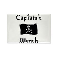 Captain's Wench Rectangle Magnet