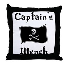 Captain's Wench Throw Pillow