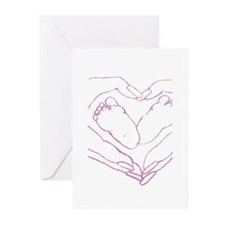 Baby feet love Greeting Cards (Pk of 20)