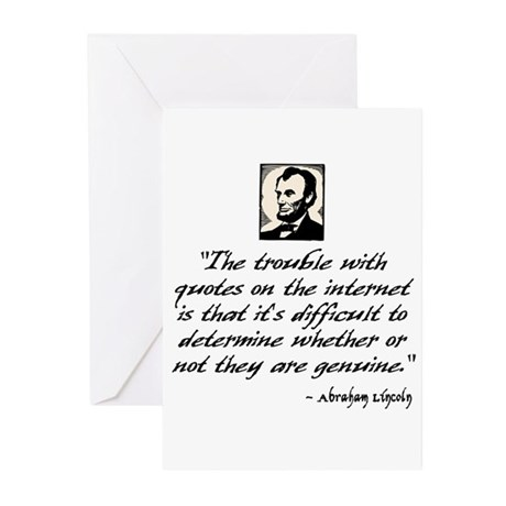 Lincoln Quote Greeting Cards (Pk of 10)