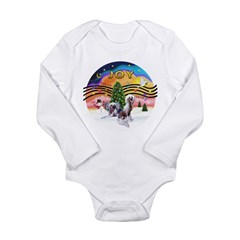 XMusic2 - Two HL Cresteds Long Sleeve Infant Bodys