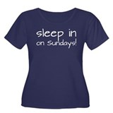 Sleep In On Sundays Women's Plus Size Scoop Neck D