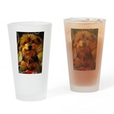 silky dog Drinking Glass