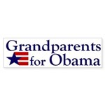 Grandparents for Obama Sticker (Bumper)