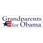 Grandparents for Obama Sticker (Bumper)
