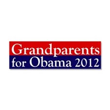 Grandparents for Obama 2012 Car Magnet 10 x 3