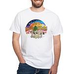 XMusic2 - Three Cairns White T-Shirt