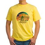 XMusic2 - Three Cairns Yellow T-Shirt