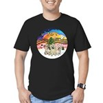 XMusic2 - Three Cairns Men's Fitted T-Shirt (dark)