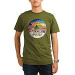 XMusic2 - Three Cairns Organic Men's T-Shirt (dark
